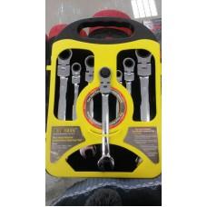 Set chei combinate cu clichet articulate 7 piese 8-19 mm