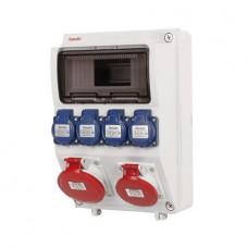 Cofret precablat IP44 12M/4xpriza schuko 16A 250V/2x5P 32A 400V