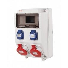 Cofret precablat IP44 9M/2xpriza schuko 16A 250V/2x5P 16A 400V