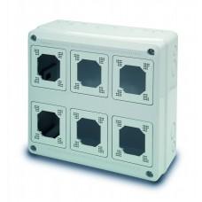 Tablou electric AcquaCOMBI 330x330x135mm cu loc de prize predecupate IP65 Famatel