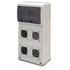 Tablou electric AcquaCOMBI 8M cu loc de prize predecupate IP65 Famatel