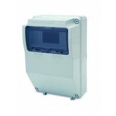 Tablou electric AcquaCOMBI 9M cu loc de prize extra IP65 Famatel