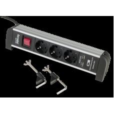 Priza aluminiu 3 posturi + 2 USB Famatel