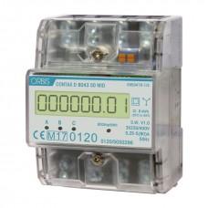 Contor modular trifazat digital 80A Contax D-8043 S0 MID Orbis